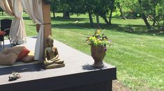 Ollie's deal on heavy outdoor pots and a Buddha statue from Pier Both incredible deals. Outdoor Statues, Outdoor Pots, Outdoor Living, Outdoor Decor, Lawn And Garden, Fountain, Buddha, The Incredibles, Patio