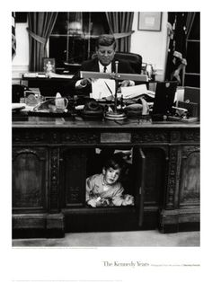 John F. Kennedy Jr as a little boy with his Dad, the late President John F. Kennedy