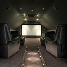 Is that a cinema room or a private plane?! - I found this on Rightmove