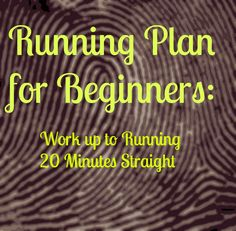Run 3-4 times per week, the more often that you run, the quicker you will adapt and the quicker you will get into shape. This plan will help you get up to running 20 minutes straight. Week 1 Run one min, walk 2 min. Repeat six times. Do three times …