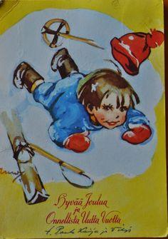 Vintage Christmas card (Kylätiellä-blogi)