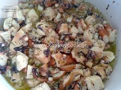 1201201310236 Greek Recipes, Pasta Salad, Potato Salad, Cauliflower, Seafood, Food And Drink, Potatoes, Meat, Chicken