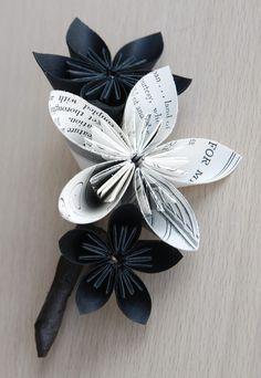 Origami: piccole opere d'arte di carta per le vostre nozze_fiore