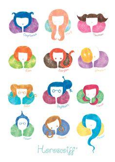 My Horoscope, 12 Zodiac Signs, Scorpio, Tarot, 2d, Personality, Kids Rugs, Illustration, Cute