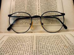 vintage wire rim eyeglass frames- dark brown, Luxottica