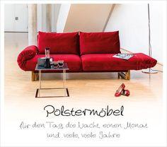 Cover: Polstermöbel für den Tag, die Nacht, Monate und viele, viele Jahre