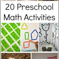 20 Preschool Math Activities - In Lieu of Preschool