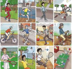 Individual sports and recreation vocabulary list PDF