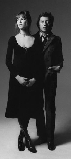 Jane Birkin and Serge Gainsbourg photographed by Bert Stern, 1970.