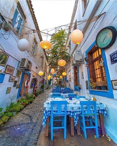 Alacati,Izmir Alacati Turkey, Turkey Photos, Table Decorations, Instagram Posts, Home Decor, Places, Travel, Outdoor, Homemade Home Decor
