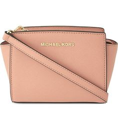 MICHAEL MICHAEL KORS Selma mini Saffiano leather satchel (Pale pink