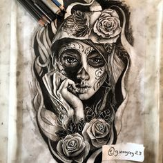 "Instagram media by giomgreg23 - "" Santa Muerte "" Drawing for futur tattoo…"
