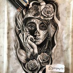 "Instagram media by giomgreg23 - "" Santa Muerte "" Drawing for futur tattoo…"