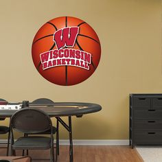 Wisconsin Badgers Basketball Logo Fathead Wall Decal