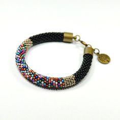 Bead Crochet Bracelet. Rope Bracelet. Oriental by ArtStyleBizu, $29.00