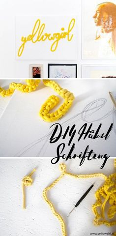 How do I sew a lettering? - Lisa Campbell - - How do I sew a lettering? Crochet Cord, Diy Crochet, Lisa Campbell, Diy And Crafts, Paper Crafts, Co Working, Yarn Projects, Diy Clothing, Diy Kits