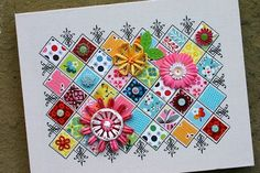 www.papercutz.co.uk Why not try making a paper canvas quilt You will need: Leftover craft card – preferably in a range of colours and patterns Hexagon template (make this or buy online from a local...