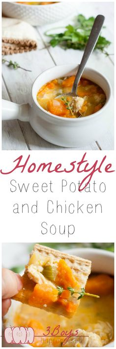 Homestyle Sweet Potato and Chicken Soup