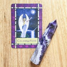 Today's card is CELEBRATION from the Healing With The Angels Oracle Cards by Doreen Virtue.  This card means good news! Cause for celebration is here, and it is time for you to enjoy the fruits of your labour. Read the full post on the blog #cardaday #crystals #chevronamethyst http://www.surpliceofspirit.com/28-november-celebration/?utm_campaign=coschedule&utm_source=pinterest&utm_medium=A%20Surplice%20of%20Spirit&utm_content=Card%20of%20the%20Day%20-%2028%20November%3A%20Celebration