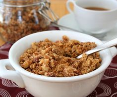 Peanut Butter Flax Granola - low carb granola?  Oh yeah!