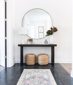 entryway design by Ottawa Interior Design Firm Leclair Decor. Entryway Console from Ottawa furniture store LD Shoppe.Welcoming entryway design by Ottawa Interior Design Firm Leclair Decor. Entryway Console from Ottawa furniture store LD Shoppe. Entryway Console, Entryway Decor, Entryway Tables, Entryway Ideas, Console Table, Modern Entryway, Entrance Ideas, Entry Foyer, Entryway Table Decorations