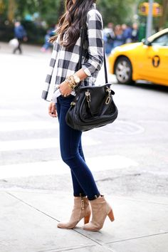 flannel and booties
