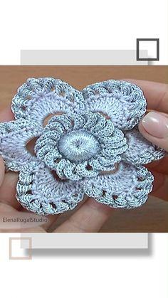 Irish Crochet Patterns, Crochet Motifs, Freeform Crochet, Crochet Designs, Knitting Patterns, Crochet Flower Tutorial, Crochet Instructions, Crochet Flowers, Irish Crochet Tutorial