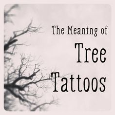 The Meaning of Tree Tattoos If you're thinking about getting a tree tattoo, here are some interpretations of what they mean and links to videos and resources for images to use to help jump-start. Tattoos Meaning Strength, Tree Tattoo Meaning, Oak Tree Tattoo, Tattoos With Meaning, Tattoo Meanings, Life Tree Tattoo, Tree Branch Tattoo, Oak Tree Meaning, Tattoos That Mean Strength