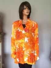 Diane Gilman 3X Plus Size Blouse Shirt Floral Designer Fashion Women Clothing