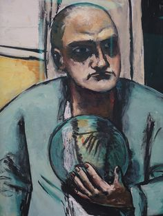 Max Beckmann, Self-portrait with glass ball, 1936.