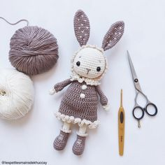 Mimi the little bunny amigurumi pattern by Khuccay Crochet Bunny Pattern, Crochet Rabbit, Crochet Patterns Amigurumi, Crochet Amigurumi, Amigurumi Doll, Crochet Dolls, Kawaii Crochet, Crochet Patron, Bunny Toys