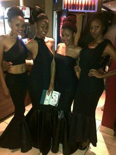 Black mermaid dresses by Lee.N.Designs