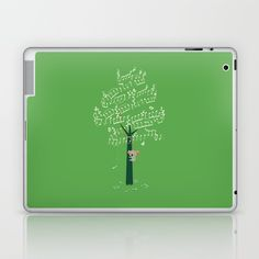 Tree Hugger Laptop & iPad Skin by I Love Doodle. Worldwide shipping available at Society6.com. Just one of millions of high quality products available.