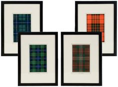 6 clan Robertson swatches on their way for framing...