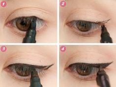 Easy ways to apply eyeliner