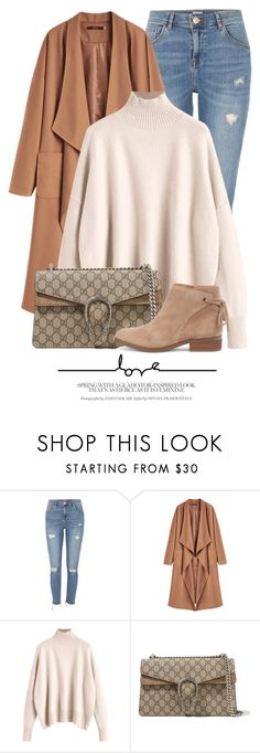 """09:42"" by monmondefou ❤ liked on Polyvore featuring River Island, Gucci and Sole Society"