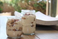 We have just the treat. Try this delicious tiramisu served in a Consol jar: Just Desserts, Tiramisu, Sweet Tooth, Pudding, Jar, Good Things, Treats, Glass, Recipes