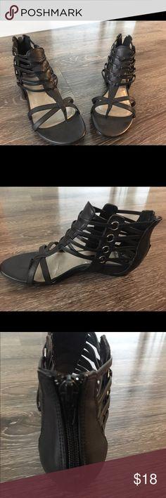 Black gladiator sandals Fergalious black gladiator sandals in pretty condition. Fergalicious Shoes Sandals