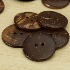 50 Pcs/set 25mm 2 Holes Coconut Shell Buttons for Clothes Garment Sewing Scrapbooking Handmade Crafts Decoration DIY Material