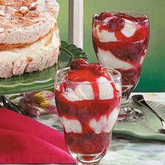 Two-Berry @: http://www.tasteofhome.com/Recipes/Two-Berry-Parfaits & Strawberry Parfaits Recipe