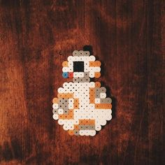 BB-8 Star Wars perler beads by planetpixels