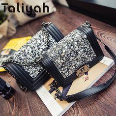 $44.49 New 2016 Winter Women Messenger Bags Fashion Chain Shoulder Bag Ladies Designer Small Crossbody Bags For Women #Fahsion #Crossbody #Bag #Messenger #Chain