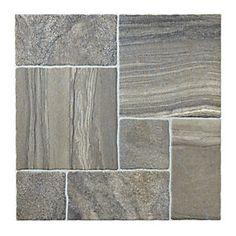 Wickes Modular Stone Effect Black Porcelain Floor Tile 436x436mm