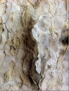 Create texture with fabric manipulation. This fabric manipulation is inspiring for my flotsam and jetsam project.: