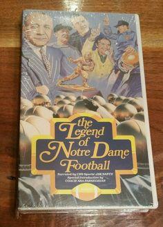 The Legend of Notre Dame Football VHS Videotape University ND Fighting Irish NEW