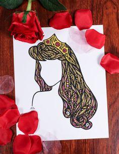 Zentangle Beauty Sleep by DesignsByBlynn on Etsy