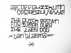 Alphabet by Dan Plasma.