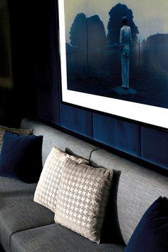 wall coverings, blue velvet, urban home decor, decor ideas, art wall, modern interior design ideas, 2015 home decor trends