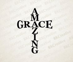 Amazing Grace svg file vector file cut file by RKCreative on Etsy