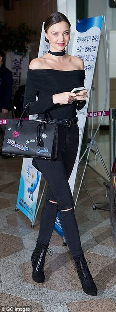 Miranda Kerr looks sensational in two outfits in Seoul | Daily Mail Online